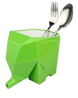 Shrih Elephant Drainer Kitchen Spoon Holder Plastic Cutlery Set(Pack of 1)
