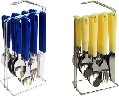 DIZIONARIO Fork-Spoon Plastic Stainless Steel Cutlery Set