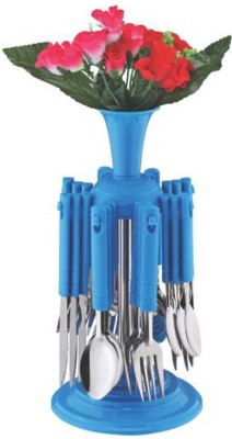 Capital Cutlery Set Premium with Stand 24 Pcs (REVO) Plastic, Stainless Steel Cutlery Set