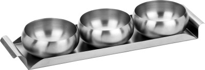 Tricon Snack Tray with Multipurpose Bowl Set STN2 Stainless Steel Cutlery Set