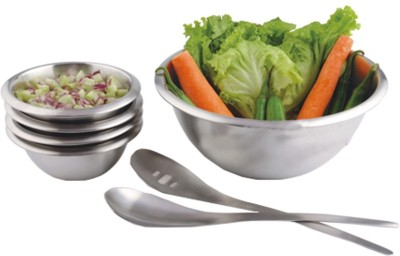 Tricon Salad Bowl Set Stainless Steel Cutlery Set