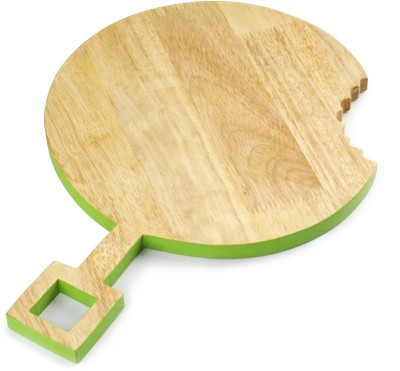 PoppadumArt Omnomnom Chopping/Serving Platter - Round Wooden Cutting Board