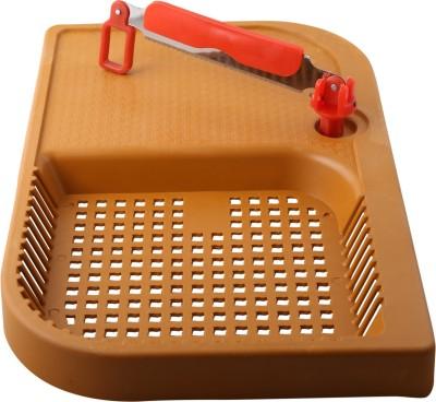 BM KITCHEN WARE Plastic Cutting Board(Brown)