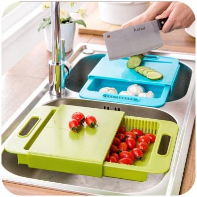 Inventure Retail Multi-function Cutting Board Plastic Cutting Board(Blue Pack of 1)