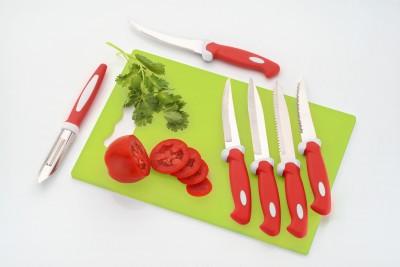 Amiraj Small Chopping board with 5 knife, 1 Peeler Polypropylene Cutting Board