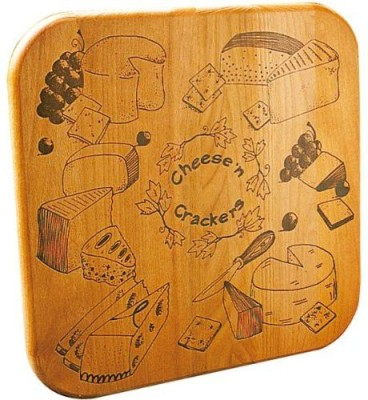 Catskill Craftsmen Cheese N, Crackers Cutting Board With Reverse Groove