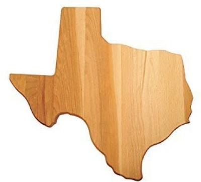 Catskill Craftsmen Texas Shaped Cutting Board