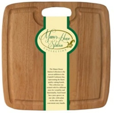 Catskill Craftsmen Manor House Station Cutting Board With Handle And Groove