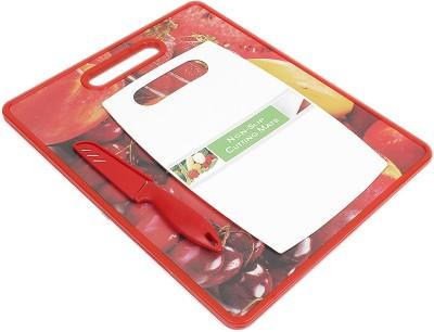 Chrome Fruit Print Plastic Cutting Board