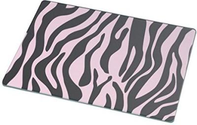 Rikki Knight RkLgcb330 Zebra Design On Light Pink Glass Cutting Board