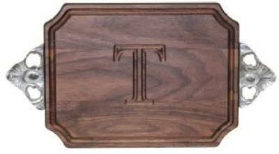 CHUBBCO W300ScT BarCheese Board With Scalloped Cast Aluminum Handle With Scalloped Corners at flipkart