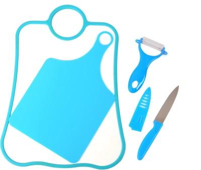 Chrome Plastic Cutting Board(Blue)