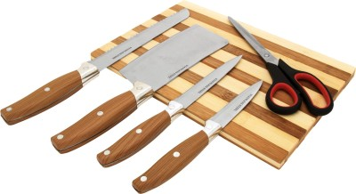 Home Creations 5pc High quality chopping Set Wooden Cutting Board