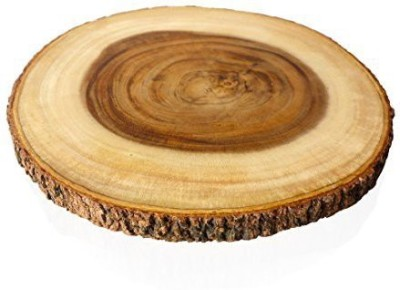 roro HandCrafted 16 In SinglePiece EndGrain Cutting Board With Bark Made From Sustainable Wood