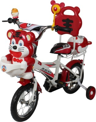 HLX-NMC HAPPY TIGER 12 INCH KIDS BICYCLE WHITE/RED TG12WTRD Recreation Cycle