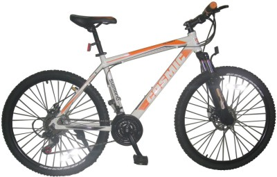 COSMIC FLASH MTB BICYCLE (21 SPEED) WHITE/ORANGE 26FLASHWTOR Hybrid Cycle