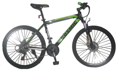 COSMIC FLASH MTB BICYCLE (21 SPEED) BLACK/GREEN 26FLASHBKGR Hybrid Cycle