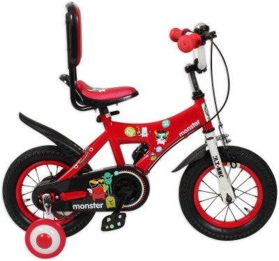 HLX-NMC KIDS BICYCLE 12 MONSTER RED 12MONSTERRD Recreation Cycle