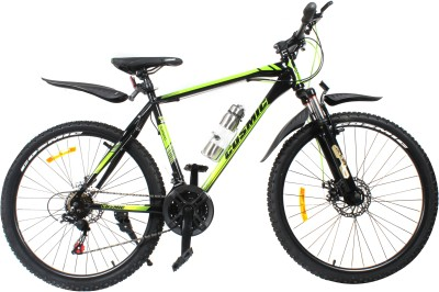 COSMIC ELDORADO 1.0L 21 SPEED MTB BICYCLE BLACK/GREEN-PREMIUM EDITION ELDORADO26BKGR Hybrid Cycle