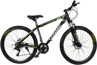 COSMIC ENTOURER 27.5 MTB 21 SPEED BICYCLE BLACK/GREEN-SPECIAL EDITION ENTOURER27.5BKGR Hybrid Cycle