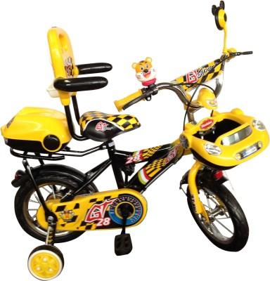 HLX-NMC KIDS BICYCLE 12 CAR-X YELLOW/BLACK 12CARXYLBK Recreation Cycle(Yellow, Black)