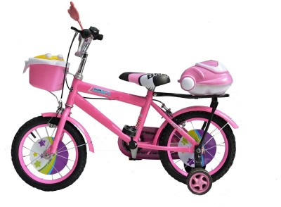 Taaza Garam Kids High Quality Imported 14 Inch with Basket and Carrier Pink BMX Cycle