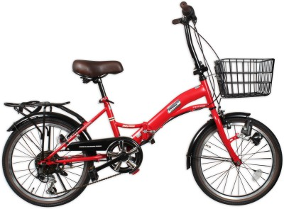 COSMIC 6 SPEED 20 INCH FOLDING BICYCLE WITH DYNAMO RED 20FOLDRD Road Cycle