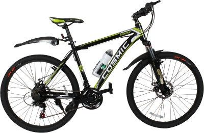 COSMIC TROOPER DISC BRAKE 21 SPEED MTB BICYCLE BLACK/GREEN-SPECIAL EDITION DTROOPER26BKGR Hybrid Cycle