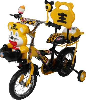 HLX-NMC HAPPY TIGER 12 INCH KIDS BICYCLE YELLOW/BLACK TG12YLBK Recreation Cycle