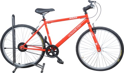 Atlas Ultimate City 26 Inches Single Speed ULCTSMRD Mountain Cycle(Red, White)