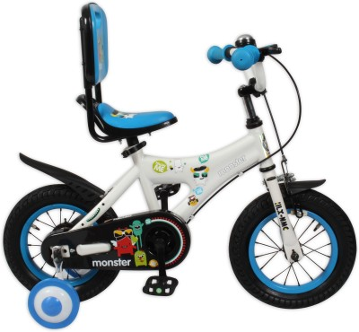 HLX-NMC KIDS BICYCLE 12 MONSTER WHITE/BLUE 12MONSTERWTBL Recreation Cycle