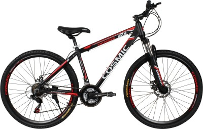 COSMIC ENTOURER 27.5 MTB 21 SPEED BICYCLE BLACK/RED-SPECIAL EDITION ENTOURER27.5BKRD Hybrid Cycle