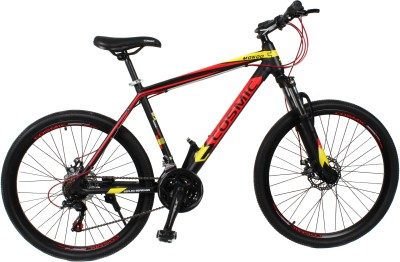 COSMIC MONDO 21 SPEED MTB BICYCLE BLACK/RED-SPECIAL EDITION MONDO26BKRD Hybrid Cycle