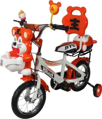 HLX-NMC HAPPY TIGER 12 INCH KIDS BICYCLE WHITE/ORANGE TG12WTOR Recreation Cycle