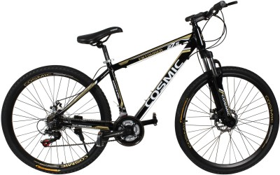 COSMIC ENTOURER 27.5 MTB 21 SPEED BICYCLE BLACK/GOLD-SPECIAL EDITION ENTOURER27.5BKGD Hybrid Cycle