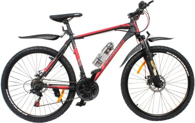 COSMIC ELDORADO 1.0L 21 SPEED MTB BICYCLE BLACK/RED-PREMIUM EDITION ELDORADO26BKRD Hybrid Cycle
