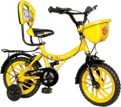 "Addo India Addo India 14"" Kitty Yellow Black KT05 Road Cycle"