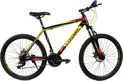COSMIC MONDO 21 SPEED MTB BICYCLE BLACK/YELLOW-SPECIAL EDITION MONDO26BKYL Hybrid Cycle
