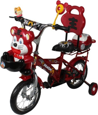 HLX-NMC HAPPY TIGER 12 INCH KIDS BICYCLE RED/GREY TG12RDGY Recreation Cycle