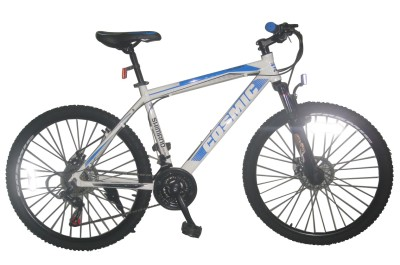 COSMIC FLASH MTB BICYCLE (21 SPEED) WHITE/BLUE 26FLASHWTBL Hybrid Cycle