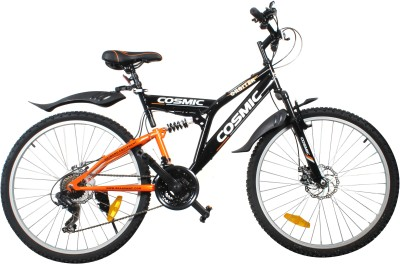 COSMIC ORBITER 21 SPEED MTB BICYCLE BLACK/ORANGE-PREMIUM EDITION ORBITER26BKOR Hybrid Cycle