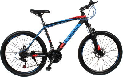 COSMIC MONDO 21 SPEED MTB BICYCLE BLACK/BLUE-SPECIAL EDITION MONDO26BKBL Hybrid Cycle