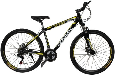 COSMIC ENTOURER 27.5 MTB 21 SPEED BICYCLE BLACK/YELLOW-SPECIAL EDITION ENTOURER27.5BKYL Hybrid Cycle