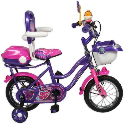 HLX-NMC KIDS BICYCLE 12 CAR-X PURPLE/PINK 12CARXPLPK Recreation Cycle