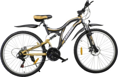COSMIC VOYAGER 21 SPEED MTB BICYCLE BLACK/GOLD-PREMIUM EDITION VOYAGER26BKGLD Hybrid Cycle(Black, Gold)