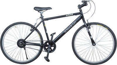 Atlas Ultimate City 26T Single Speed ULCTMTBK Mountain Cycle(Black, White)