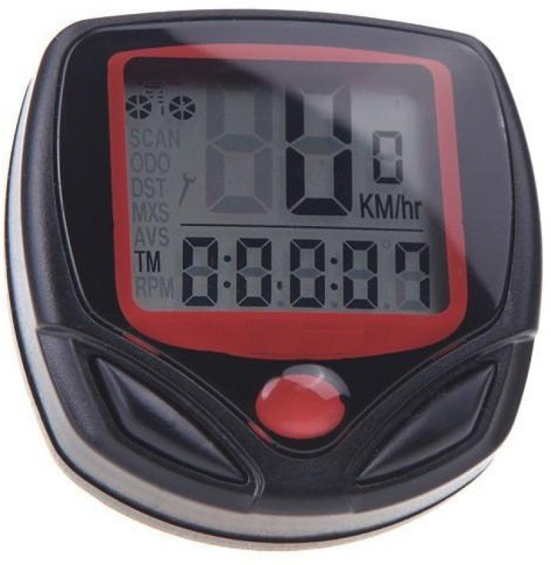 Aeoss Waterproof Digital LCD Computer Odometer Speed meter 14 Functions Wired Cyclocomputer