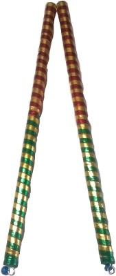 IndoArtisan Ajmeri-01 Dandia Sticks(Red, Green)