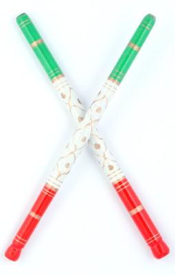 Sanjog Sankheda Wodden Red And Green For Navratri Celebrations For Garba-Pack Of 4 pair Dandia Sticks(Red, Green)