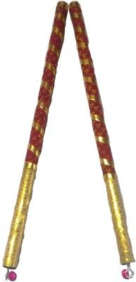 IndoArtisan Bandhani-01 Dandia Sticks(Red)